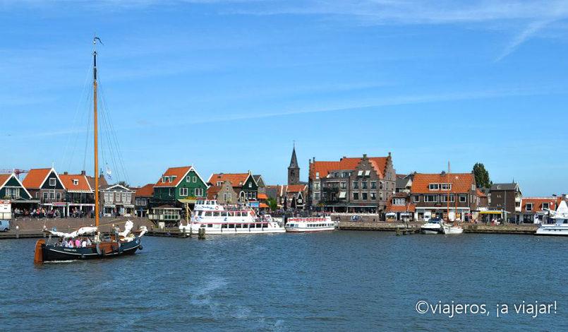 Llegando a Volendam desde Marken