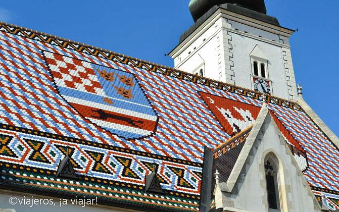 Mosaicos del tejado de la Iglesia de San Marcos, Zagreb