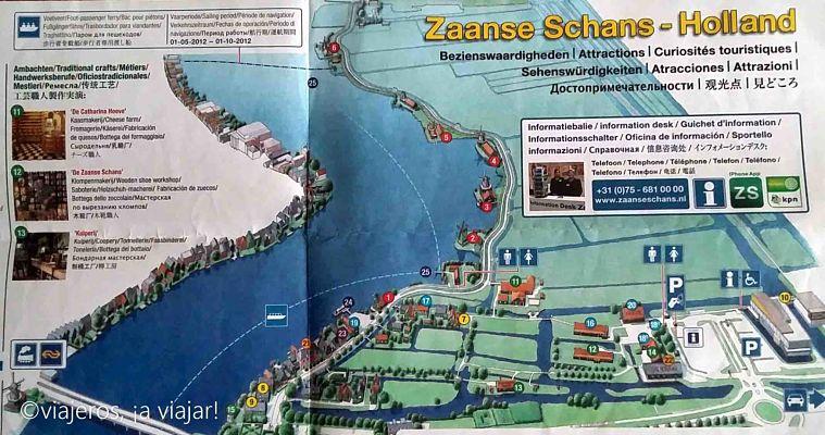 mapa de Zaanse Schans