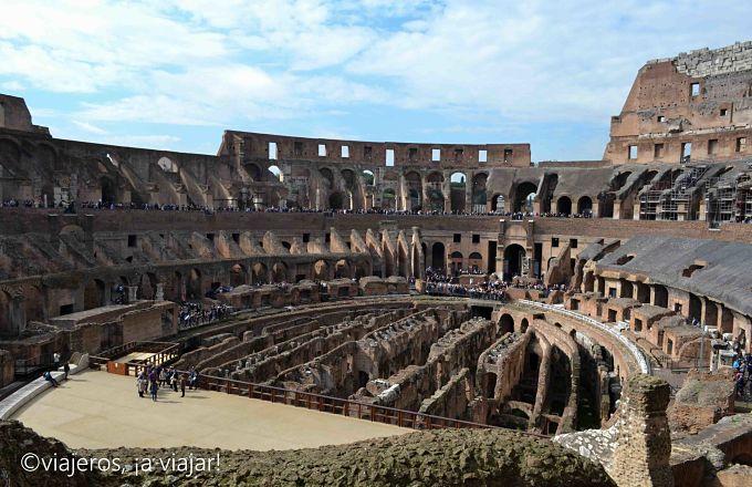 Roma Antigua. Interior del Coliseo