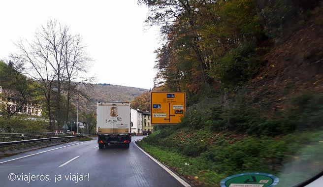 Carreteras de dos carriles, dos sentidos en Alemania